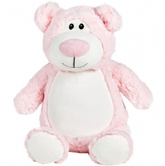 Personalised Bear Cubbie Teddy - Pink